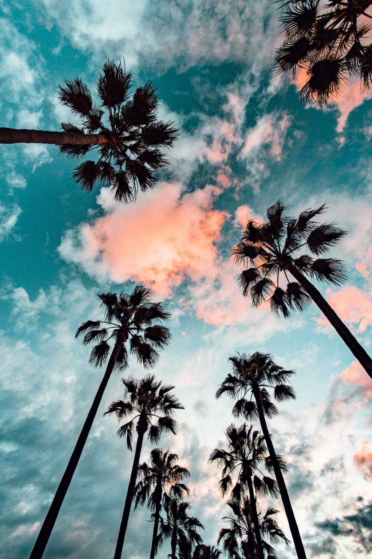 Long Beach, Sunset, Clouds