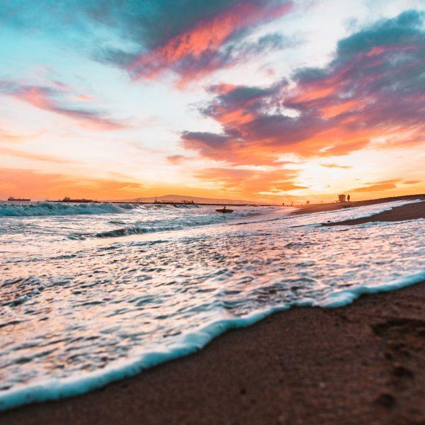 Seal Beach, Sunset, Ocean, Longnecker