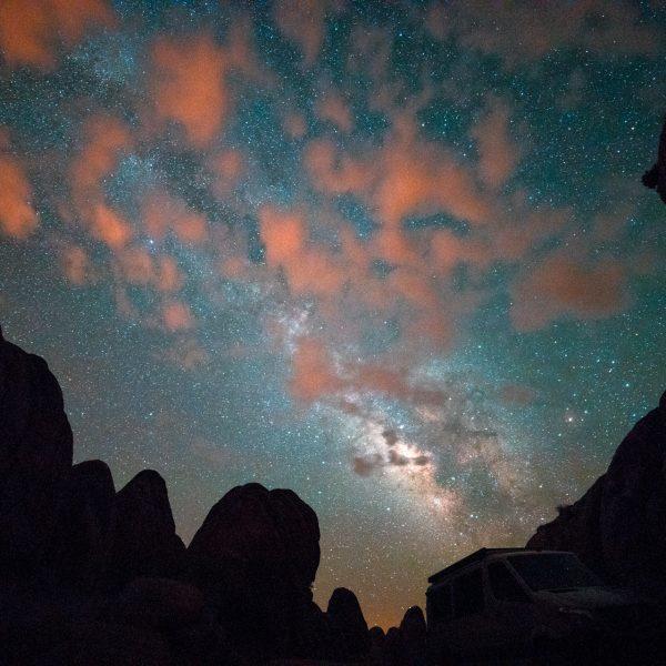 Milky Way, Stars, Alabama hills, Longnecker